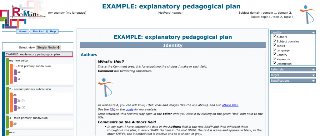 Ejemplo de vista de secuencia del PPM