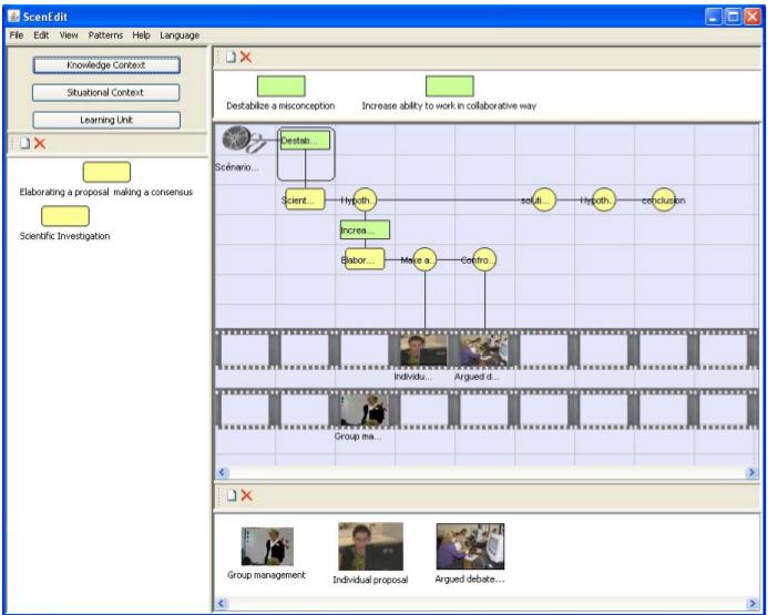 Captura de pantalla del entorno de ScenEdit